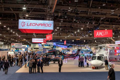 Leonardo Celebrates Helicopter Orders at Heli-Expo 2018 of Nearly 140 Million Euro